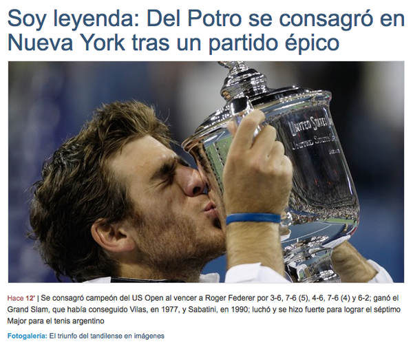 delpo US OPEN WIN